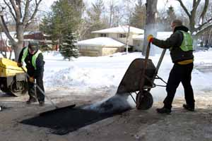 Hot Mix Asphalt Patching in the Winter